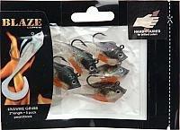 Blaze Rigged Grub Fishing Lures 5-Pack WhiteBlack 2-Inch
