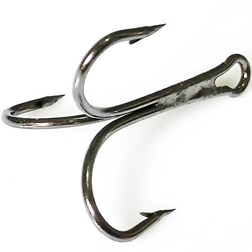 100pcs 3551 Size 6 Round Bend Classic Extra Sharp Fishing Treble Hooks Fishing Hooks for Saltwater Fishing