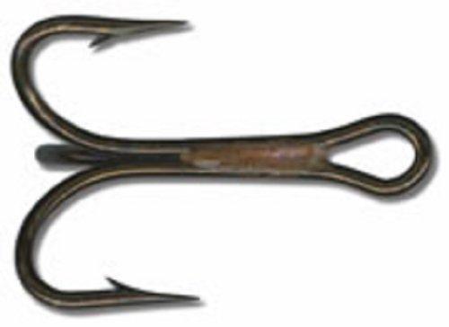 Mustad Hooks 4X Strong Treble Hook Ringed Bronze Size 4 25 per pk 3592BR-4 pc24
