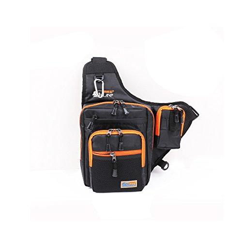 Primebuy Fishing Bags Multi-Purpose Waterproof Fishing Tackle Bag Pack Shoulder Box Reel Lure Storage CanvasBlack