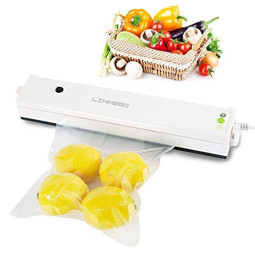 LINNEGO Vacuum Sealer Automatic Vacuum Sealing System with compact designSuper Slim Food Sealer Food Preservation
