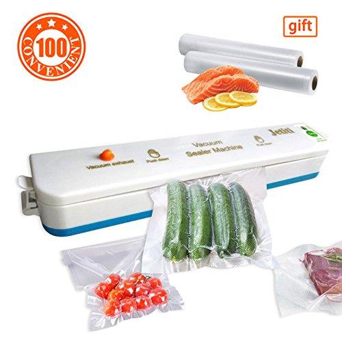 Portable Vacuum Sealer MachineJETITI Vacuum Sealing System for Food Storage Plus 20 FREE Sealable Bags