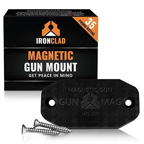 Firearm Gun Magnet  35 lbs Firearms Magnets  Rubber Coated Firearm Car Gun Mount  Magnetic Firearm Holster Gun Holder for Handgun Rifle Shotgun Pistol Revolver Truck Car Wall Vault Desk