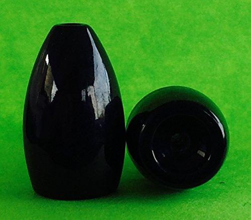Kajun Boss 1 Oz Black Tungsten Weights 5-pack