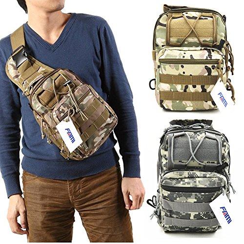 FAMI Outdoor Tactical Shoulder Backpack Military Sport Bag Pack Daypack for Camping Hiking Trekking Rover Sling - ACU Digital Camo