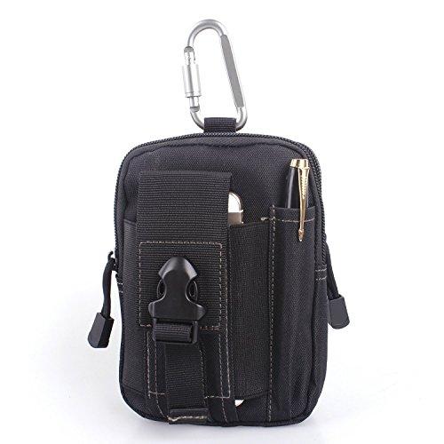 Unigear Compact Multi-Purpose Tactical Mole EDC Utility Gadget Pouch Tools Waist Bag Pack Black