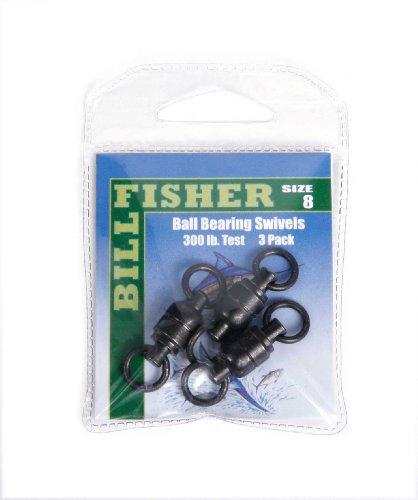 Billfisher BBS8-3PK Ball Bearing Fishing Swivels
