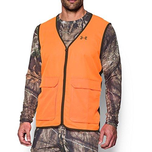 Under Armour Mens Blaze Antler Logo Hunting Vest Blaze OrangeTimber Large