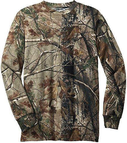 Joes USAtm - Realtree Explorer 100 Cotton Pocket Long Sleeve T-Shirt Camo Hunting Shirts