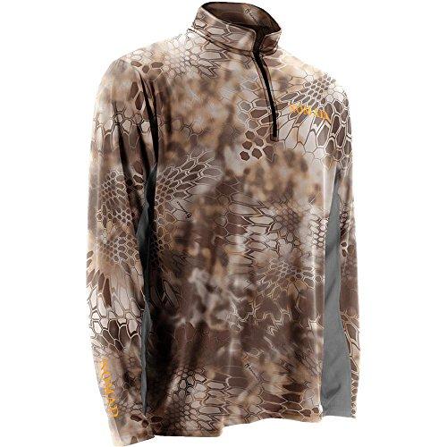 Nomad 14 Zip Performance Long Sleeve Hunting Camo Shirt N1200005 Banshee X-Large