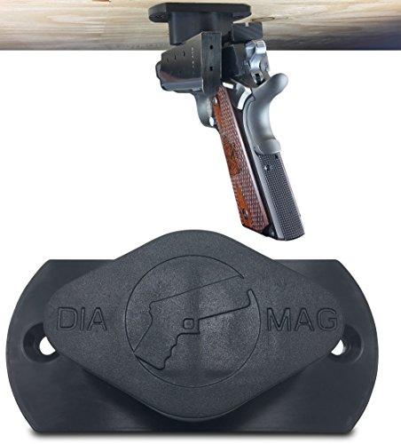 Gun Magnet 35 lb Rated  Adhesive Backing  Car Holster  Bedside Holster  Steering Wheel Gun Holster  Under The Desk Pistol Holster  Gun Holsters For Cars  Vehicle Gun Mount Pistol Holster In Car