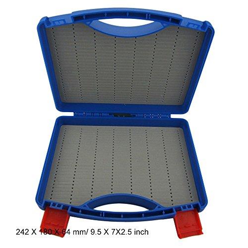 Aventik Plastic Click Lock Streamer Fly Carrying Case Fly Box Large Box 242X180X64mm95X7X25 inch Blue