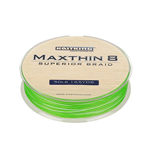 KastKing Maxthin8 Braided Fishing Line 8 Strands 165Yds150M Upgrade From Power Pro Superline Strong PE Material