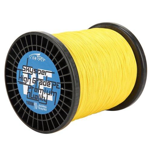 Skysper1741000m 60lb 0400mm Premium Quality Sea Fishing Line Braided Yellow