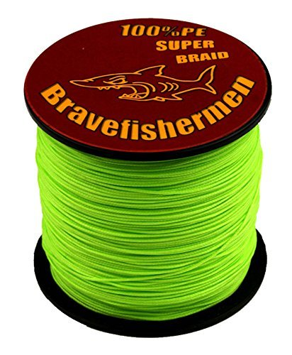 Fluorescent Green Super Strong Pe Braided Fishing Line 6LB to100LB 1000m 100LB