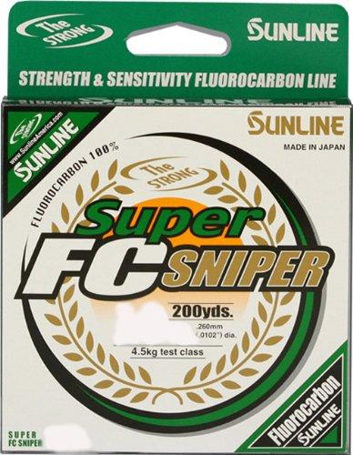 Sunline Fluorocarbon Super FC Fishing Line 7-Pound Test200-Yard Sniper Green
