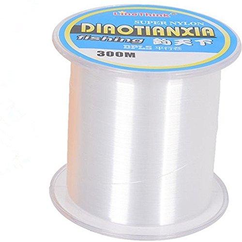 LineThink Super Durable Nylon Monofilament Fishing Line Mono Seawater Fish Line 300MTransparen21LB