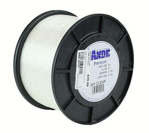 Ande Premium Monofilament Line 1-Pound Spool 50-Pound Test Clear Finish