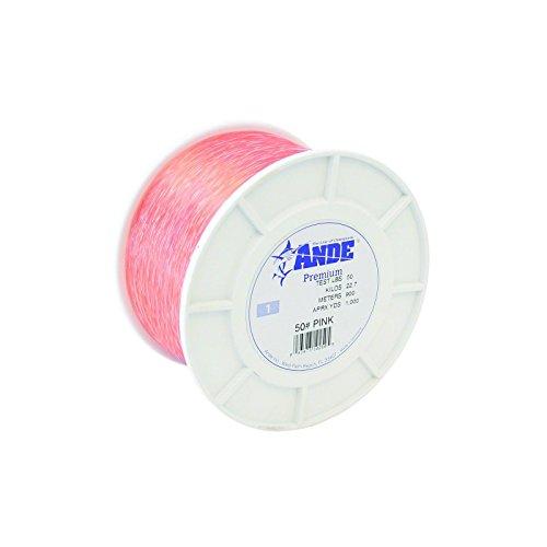 Ande Premium Monofilament - 1 lb Spool - 50lb Test - Pink