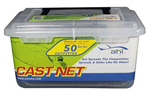 Ahi USA 50 Outfitter Series Monofilament Cast Net Clear 4-Feet