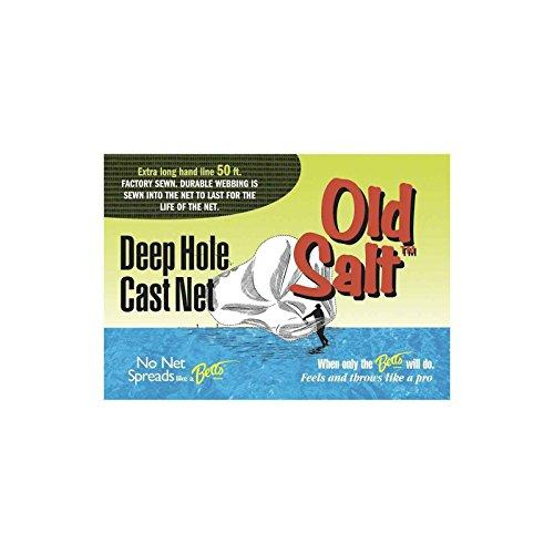 Betts 8PM-DH Old Salt Deep Hole Mono Cast Net 8-Feet 38-Inch Mesh Sewn-in