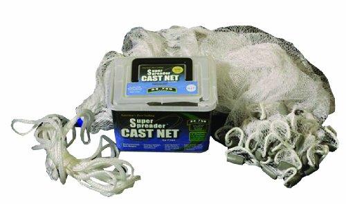 FITEC Super Spreader Nylon Fishing Cast Net 14-Inch X 3-Feet