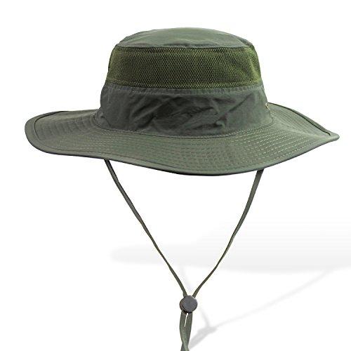APAS Outdoor Large Brim Bucket Hat Quick-Dry Breathable Mesh Fishing Hats Absorbent Sun Cap UPF50