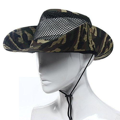 Army green Outdoor Mesh Sunshade Fishing Bucket Hat Cap for Travel Camping Hiking Hunting Boating Safari Cap