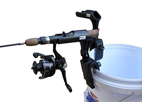 BroCraft Ice Fishing Bucket Rod Holder  Ice Fishing Shelter Rod Holder Ice Fishing sled Rod Holder