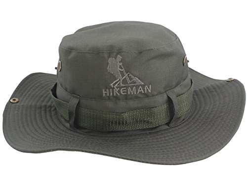 Hikeman Outdoor Fishing Hats Bucket Cap Sun Hat UV Protection for Men Women