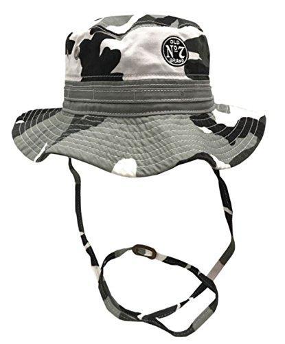 Jack Daniels Mens Wide Brim Boonie Fishing Bucket Hat Gray Camouflage JD77-124