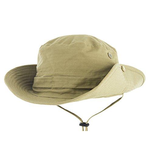 Krisphily Outdoors Boonie Fishing Bucket Hats Khaki