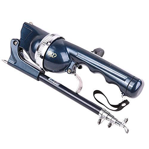 Ponis-Limos - 131CM Folding Fishing Pole Ratio 361 Combo Fiberglass Telescopic Fishing Rod Reel Spinning Fish Hand Sea Ocean Rod with Line