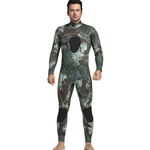 MYLEDI 3mm Neoprene Jumpsuit Camo Scuba Diving Snorkeling Swimming Spearfishing Wetsuit MY046 S