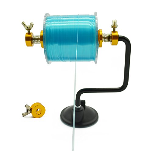 Blisswill Ilure Portable Fishing Line Spooler Silver Reel Winder Spool Tackle Golden
