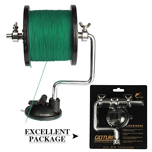 YOGAYET Portable Fishing Line Winder Reel Aluminum Spool Spooler System Tackle