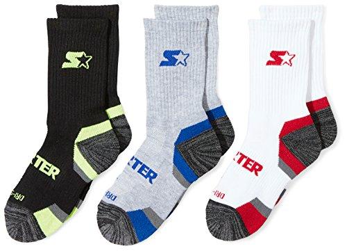 Starter Boys 6-Pack Athletic Crew Socks Amazon Exclusive