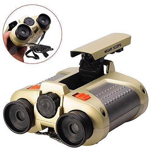 Binoculars for KidsBIAL Toys Binoculars Night Scope 4x30 Telescope with Pop-up Spotlight and Night-beam Vision Fun Cool Toy Gift for Kids Boys Girls