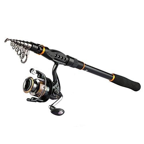 Goture Telescopic Fishing RodRod&Reel RedBlack 59-119ft