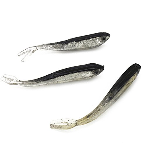 Anmuka 10PCS Soft Silver Carp Fish Fishing Tackle lure