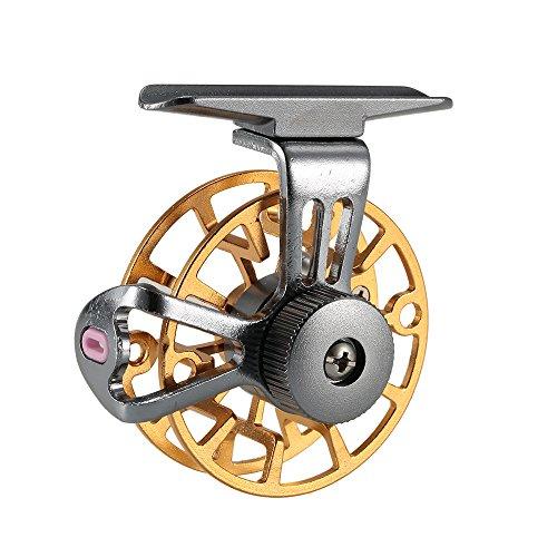 Lixada Mini Ultralight Fly Reel Right Handed Fly Fishing Reel CNC Machined Aluminum Full Metal Reel Former Ice Fishing Wheel Reel Spool Tackle Tool