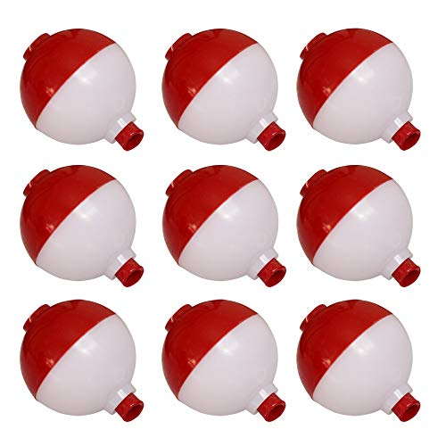 LikeFish Fishing Bobbers Hard ABS Snap-on Floats Push Button Round Buoy Float Bobbers 4 Sizes