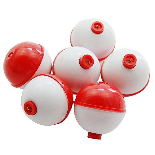 Shaddock Fishing 25pcspack 1inch Hard ABS Push Button Fishing Floats Bobbers