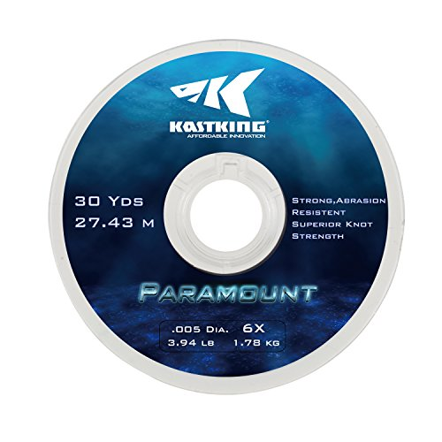 New KastKing Paramount Tippet Spools Fly Fishing Line - Nylon Multiplex Monofilament -Abrasion Resistent for Freshwater or Saltwater - Wide Assortment Size 2X to 6X Available - 3 Spool  5 Spool