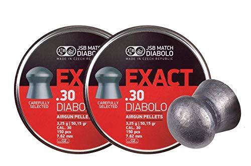 JSB 546031-150 Diablo Exact Air Gun Pellets 30 Cal 5015 Grains 150ct 2 Pack
