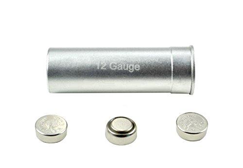 12 Gauge Shotgun Cartridge Laser Bore Sighter Silver Color Red Laser