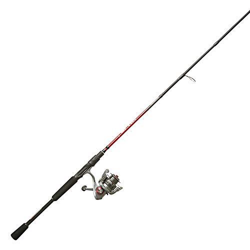 Quantum Optix Spinning Reel and 2-Piece Fishing Rod Combo Split-Grip EVA Foam Handle Continuous Anti-Reverse Fishing Reel Size 5
