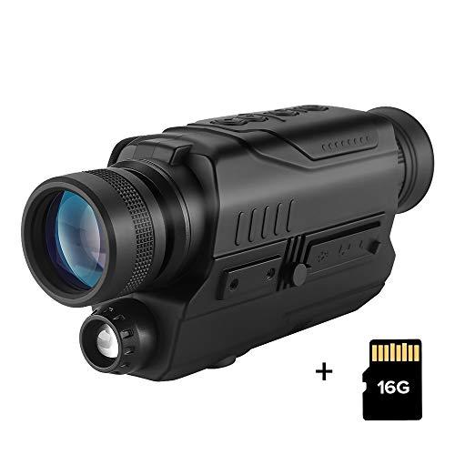 BOBLOV PJ2 Night Vision Scope 5x32 Monocular Camera with 16G TF Card Portable Night Vision Monocular for Hunting Hiking climbing
