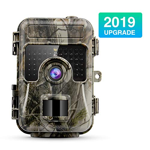 NBStyle Trail Camera 16MP 1080p IP66 Waterproof Hunting Camera with Night Vision120° Wide Angle Lens and 24 LCD for Wildlife Monitoring Hunting Animal Scouting Farm and Home Security