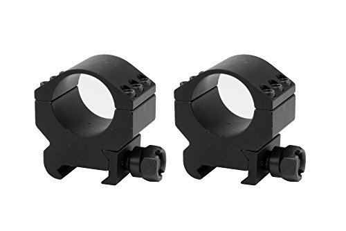 Monstrum Tactical Lockdown Series High Performance Scope Rings  Picatinny  1 Inch Diameter  Medium Profile